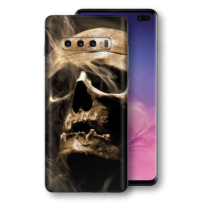 Samsung Galaxy S10+ PLUS Print Custom Signature Voodoo Skull Skin Wrap Decal by EasySkinz