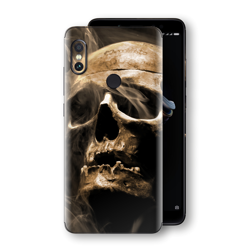 XIAOMI Redmi NOTE 5 Print Custom Signature Voodoo Skull Skin Wrap Decal by EasySkinz