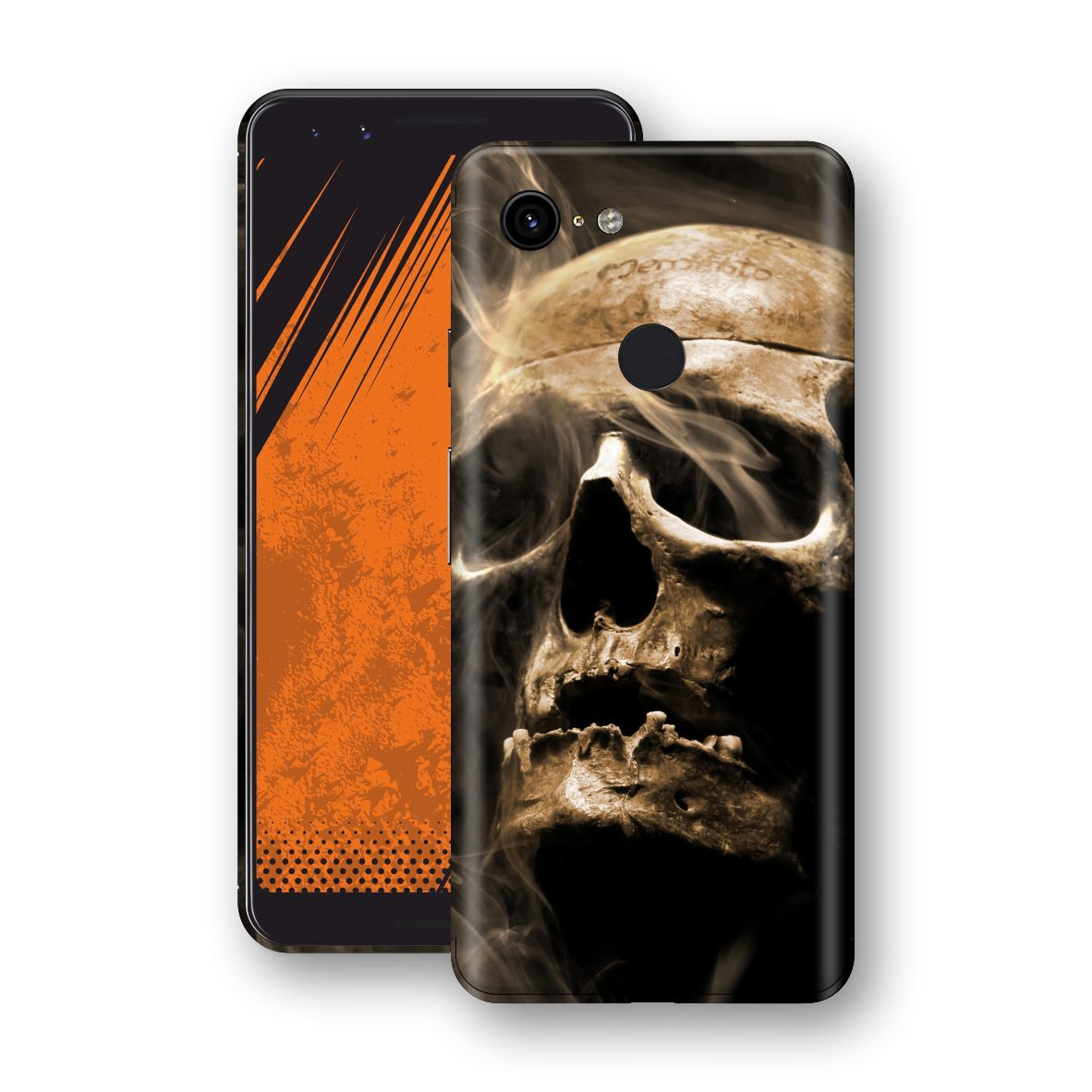 Google Pixel 3 Print Custom Signature Voodoo Skull Skin Wrap Decal by EasySkinz