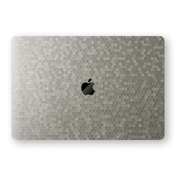 "MacBook Pro 15"" Touch Bar SILVER Honeycomb 3D Textured Skin Wrap Sticker Decal Cover Protector by EasySkinz"