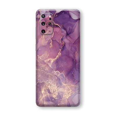 Samsung Galaxy S20+ PLUS SIGNATURE AGATE GEODE Purple-Gold Skin, Wrap, Decal, Protector, Cover by EasySkinz | EasySkinz.com