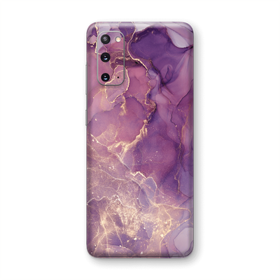 Samsung Galaxy S20 SIGNATURE AGATE GEODE Purple-Gold Skin, Wrap, Decal, Protector, Cover by EasySkinz | EasySkinz.com