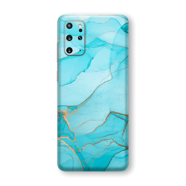 Samsung Galaxy S20+ PLUS SIGNATURE AGATE GEODE Aqua-Gold Skin, Wrap, Decal, Protector, Cover by EasySkinz | EasySkinz.com