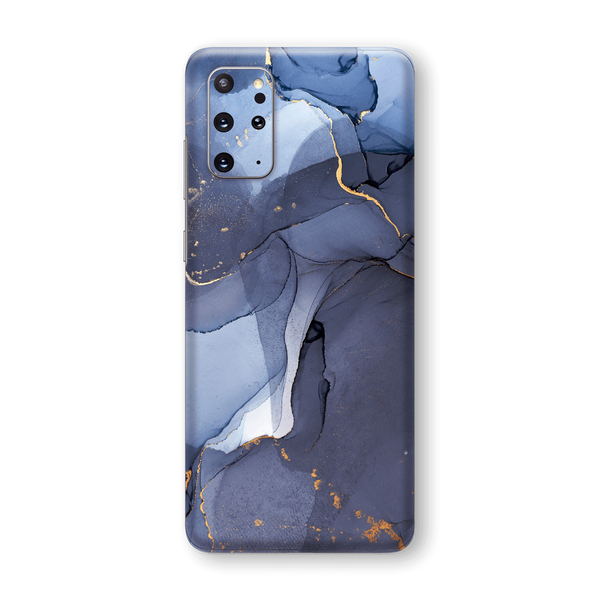 Samsung Galaxy S20+ PLUS SIGNATURE AGATE GEODE Pigeon Blue-Gold Skin, Wrap, Decal, Protector, Cover by EasySkinz | EasySkinz.com