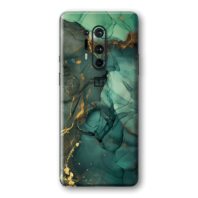 OnePlus 8 PRO SIGNATURE AGATE GEODE Royal Green-Gold Skin, Wrap, Decal, Protector, Cover by EasySkinz | EasySkinz.com
