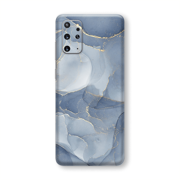 Samsung Galaxy S20+ PLUS SIGNATURE AGATE GEODE Steel Blue-Gold Skin, Wrap, Decal, Protector, Cover by EasySkinz | EasySkinz.com