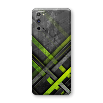 Samsung Galaxy S20 SIGNATURE Print Printed Green Grey Concrete Mesh Abstract Skin, Wrap, Decal by EasySkinz | EasySkinz.com