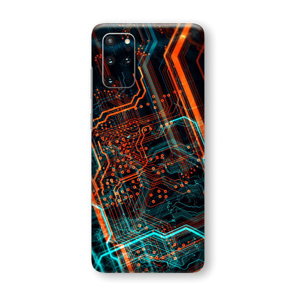 Samsung Galaxy S20+ PLUS Print Printed Custom SIGNATURE NEON PCB Board Skin Wrap Sticker Decal Cover Protector by EasySkinz