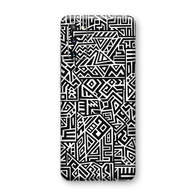 Samsung Galaxy S20 Print Printed Custom SIGNATURE Black and White Geometric Tribal Secret Camouflage Skin Wrap Sticker Decal Cover Protector by EasySkinz