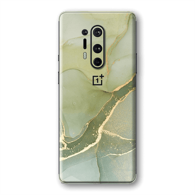 OnePlus 8 SIGNATURE AGATE GEODE Green-Gold Skin, Wrap, Decal, Protector, Cover by EasySkinz | EasySkinz.com