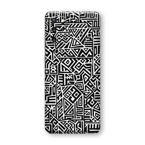 Samsung Galaxy S20+ PLUS Print Printed Custom SIGNATURE Black and White Geometric Tribal Secret Camouflage Skin Wrap Sticker Decal Cover Protector by EasySkinz