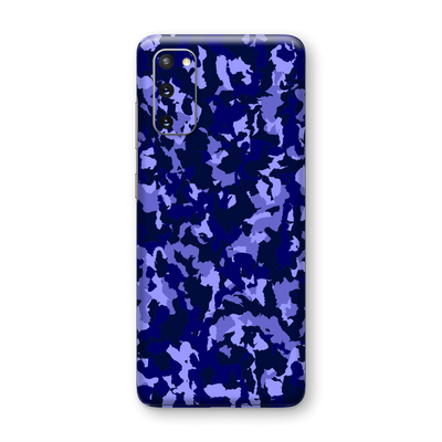 Samsung Galaxy S20 Print Printed Custom SIGNATURE Camouflage Navy-Purple Skin Wrap Sticker Decal Cover Protector by EasySkinz