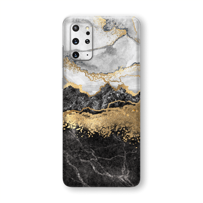 Samsung Galaxy S20+ PLUS SIGNATURE Golden WHITE-Slate Marble Skin, Wrap, Decal, Protector, Cover by EasySkinz | EasySkinz.com