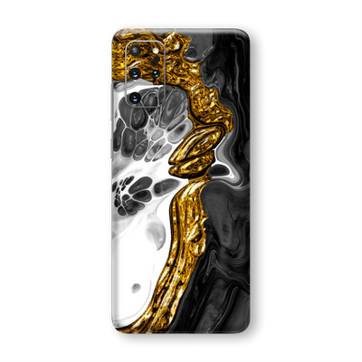 Samsung Galaxy S20+ PLUS SIGNATURE Abstract MELTED Gold Skin, Wrap, Decal, Protector, Cover by EasySkinz | EasySkinz.com