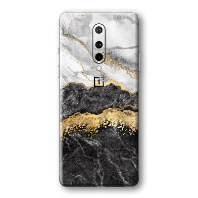 OnePlus 8 SIGNATURE Golden WHITE-Slate Marble Skin, Wrap, Decal, Protector, Cover by EasySkinz | EasySkinz.com