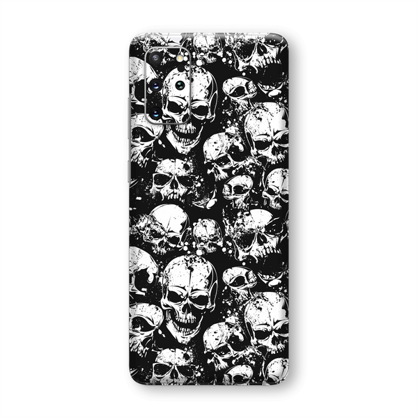 Samsung Galaxy S20+ PLUS SIGNATURE Black and White Horror Skull Skulls Skin, Wrap, Decal, Protector, Cover by EasySkinz | EasySkinz.com