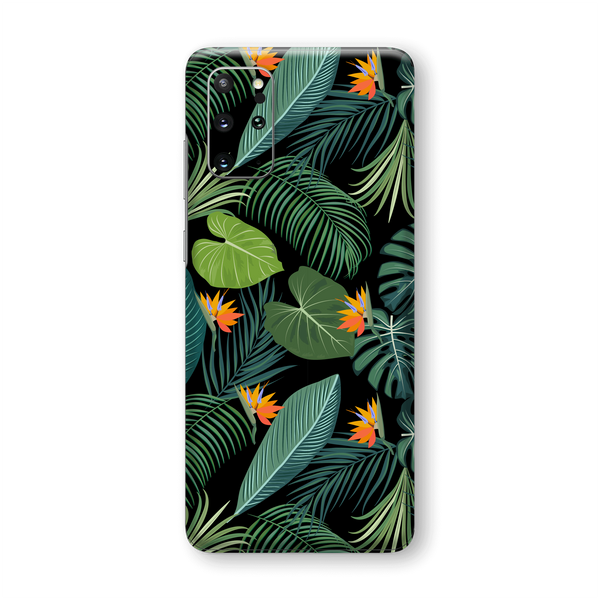 Samsung Galaxy S20+ PLUS Print Printed Custom SIGNATURE JUNGLE Tropical LEAVES Skin Wrap Sticker Decal Cover Protector by EasySkinz
