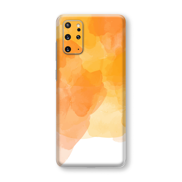 Samsung Galaxy S20+ PLUS Print Printed Custom SIGNATURE Orange Watercolour Skin Wrap Sticker Decal Cover Protector by EasySkinz