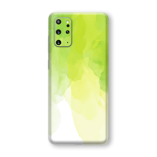 Samsung Galaxy S20+ PLUS Print Printed Custom SIGNATURE Lime Green Watercolour Skin Wrap Sticker Decal Cover Protector by EasySkinz
