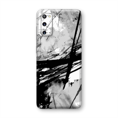 Samsung Galaxy S20 Print Custom Signature Abstract Black & White Skin Wrap Decal by EasySkinz