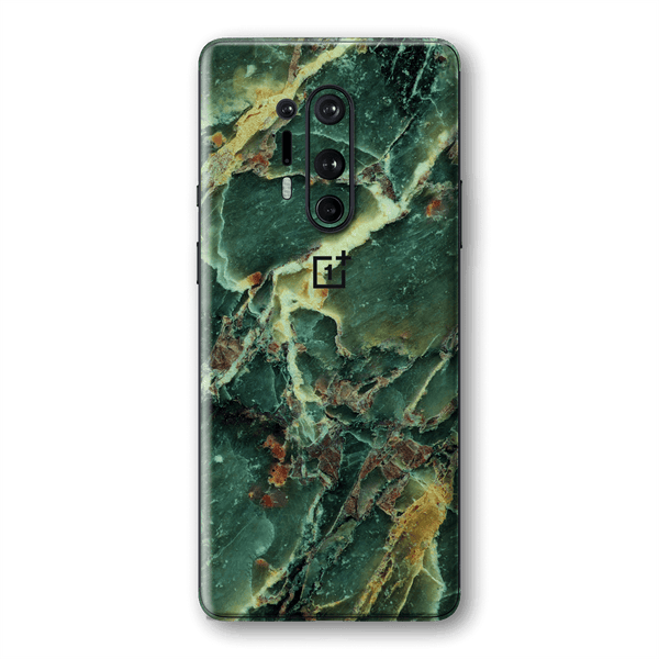 OnePlus 8 PRO Print Custom Signature Marble GREEN Skin Wrap Decal by EasySkinz