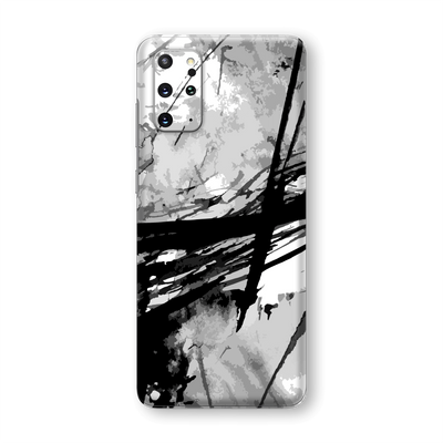 Samsung Galaxy S20+ PLUS Print Custom Signature Abstract Black & White Skin Wrap Decal by EasySkinz