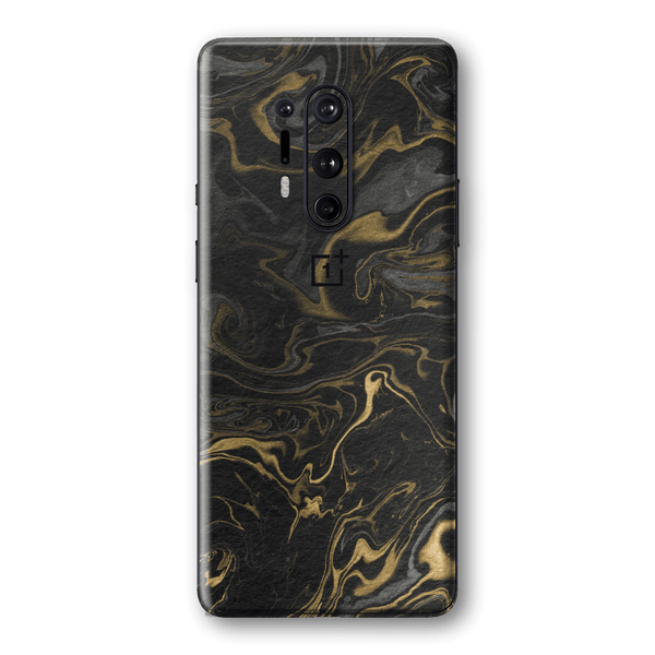 OnePlus 8 PRO Print Printed Custom SIGNATURE Grey-Gold Ink Paper Skin Wrap Sticker Decal Cover Protector by EasySkinz