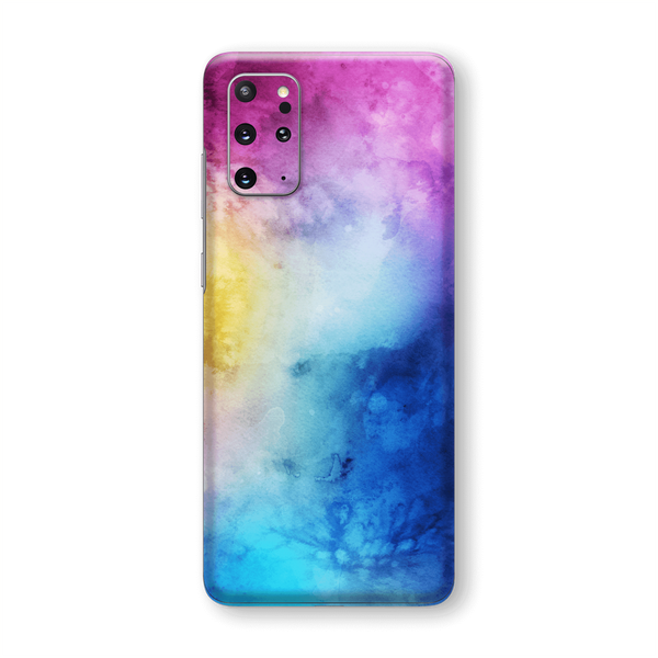 Samsung Galaxy S20+ PLUS Print Custom Signature Abstract Watercolour Blue/Purple Skin Wrap Decal by EasySkinz