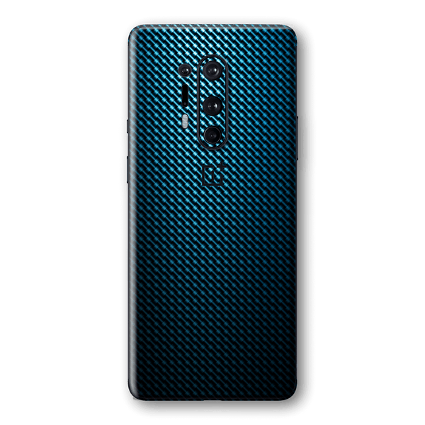 OnePlus 8 PRO Print Custom Signature Blue Grid Carbon Abstract Skin Wrap Decal by EasySkinz