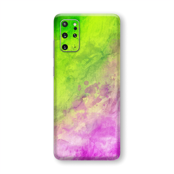 Samsung Galaxy S20+ PLUS Print Custom Signature Abstract Watercolour Pink Green Skin Wrap Decal by EasySkinz