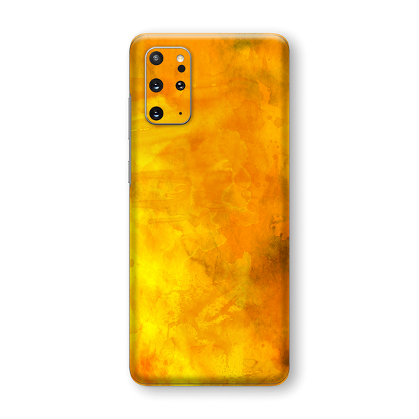 Samsung Galaxy S20+ PLUS Print Custom Signature Abstract Orange Paint Skin Wrap Decal by EasySkinz