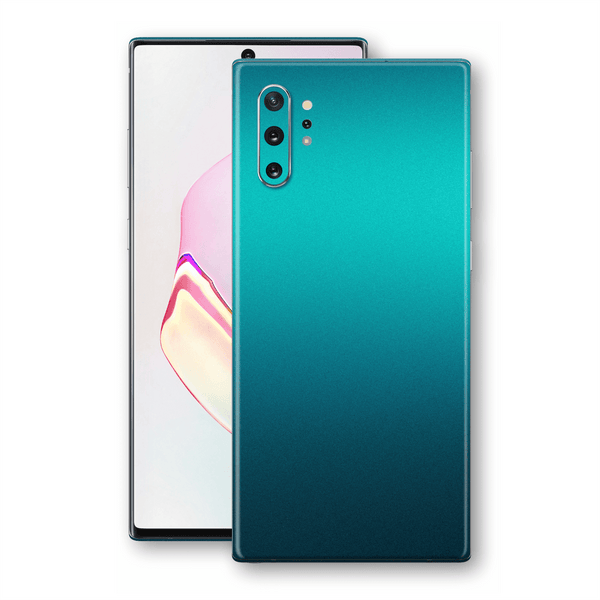 Samsung Galaxy NOTE 10+ PLUS Atomic Teal Metallic Gloss Finish Skin Wrap Sticker Decal Cover Protector by EasySkinz