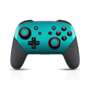 Nintendo Switch Pro Controller Atomic Teal Metallic Gloss Finish Skin Wrap Sticker Decal Cover Protector by EasySkinz