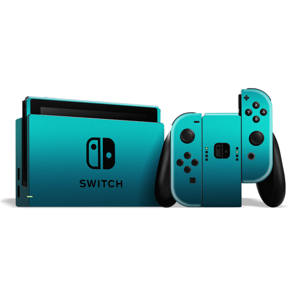 Nintendo SWITCH Atomic Teal Metallic Gloss Finish Skin Wrap Sticker Decal Cover Protector by EasySkinz
