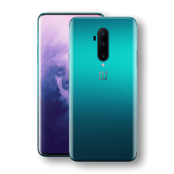 OnePlus 7T PRO Atomic Teal Metallic Gloss Finish Skin Wrap Sticker Decal Cover Protector by EasySkinz