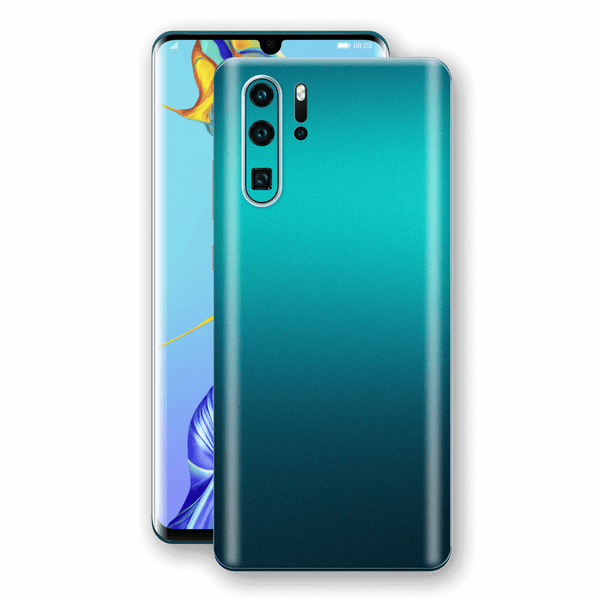 Huawei P30 PRO Atomic Teal Metallic Gloss Finish Skin Wrap Sticker Decal Cover Protector by EasySkinz