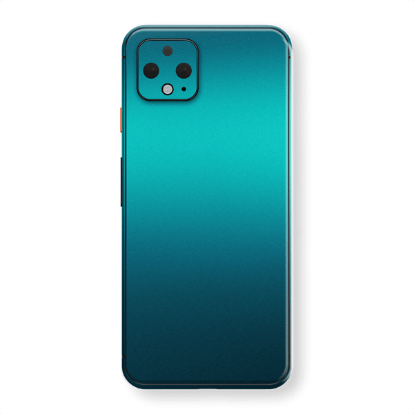 Google Pixel 4 Atomic Teal Metallic Gloss Finish Skin Wrap Sticker Decal Cover Protector by EasySkinz