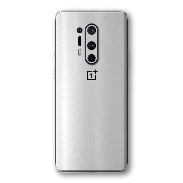 OnePlus 8 PRO Premium Brushed Aluminium Metallic Metal Skin Wrap Sticker Decal Cover Protector by EasySkinz