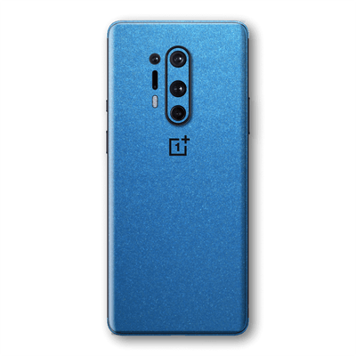 OnePlus 8 PRO Azure Blue Glossy Metallic Skin Wrap Sticker Decal Cover Protector by EasySkinz