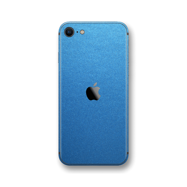 iPhone SE (2020) Azure Blue MATT Skin Wrap Sticker Decal Cover Protector by EasySkinz