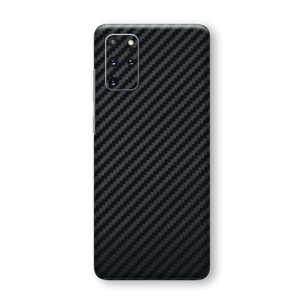 Samsung Galaxy S20+ PLUS 3D Textured Black Carbon Fibre Fiber Skin Wrap Sticker Decal Cover Protector by EasySkinz