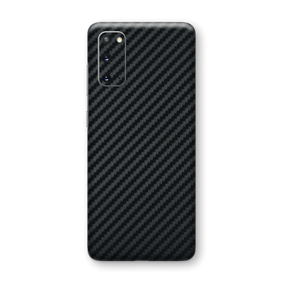 Samsung Galaxy S20 3D Textured Black Carbon Fibre Fiber Skin Wrap Sticker Decal Cover Protector by EasySkinz