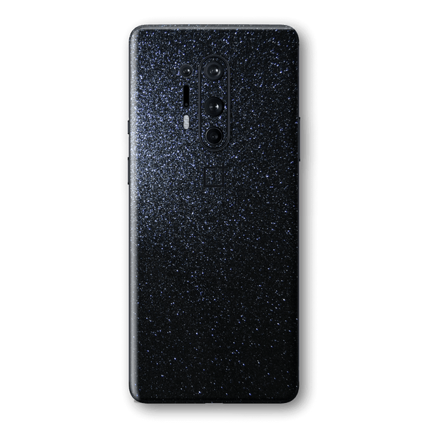 OnePlus 8 PRO Diamond Black Shimmering, Sparkling, Glitter Skin Wrap Sticker Decal Cover Protector by EasySkinz