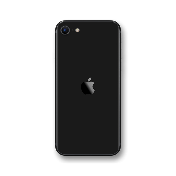 iPhone SE (2020) Black Gloss Finish Skin Wrap Sticker Decal Cover Protector by EasySkinz