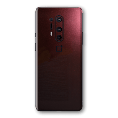 OnePlus 8 PRO Black Rose Glossy Metallic Skin Wrap Sticker Decal Cover Protector by EasySkinz
