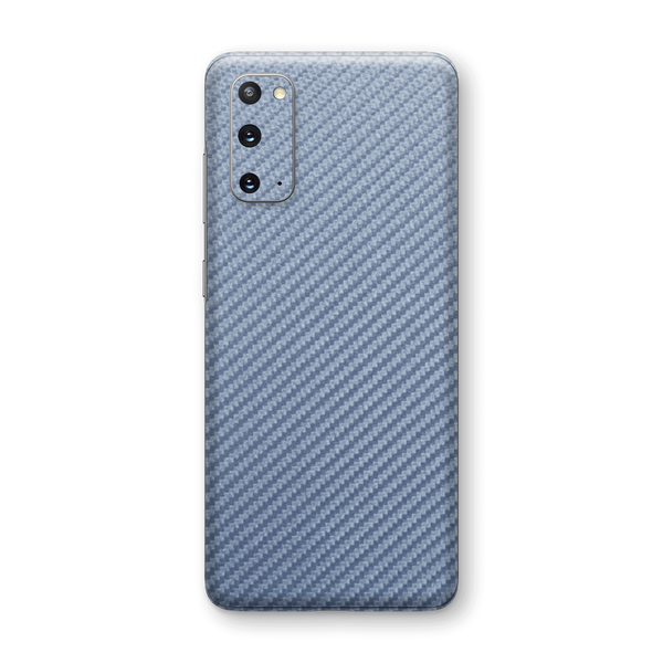 Samsung Galaxy S20 3D Textured Arctic Blue Carbon Fibre Fiber Skin Wrap Sticker Decal Cover Protector by EasySkinz