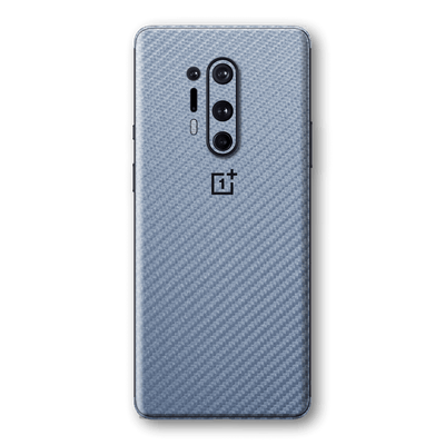 OnePlus 8 PRO 3D Textured Arctic Blue Carbon Fibre Fiber Skin Wrap Sticker Decal Cover Protector by EasySkinz