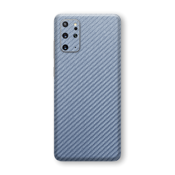 Samsung Galaxy S20+ PLUS 3D Textured Arctic Blue Carbon Fibre Fiber Skin Wrap Sticker Decal Cover Protector by EasySkinz
