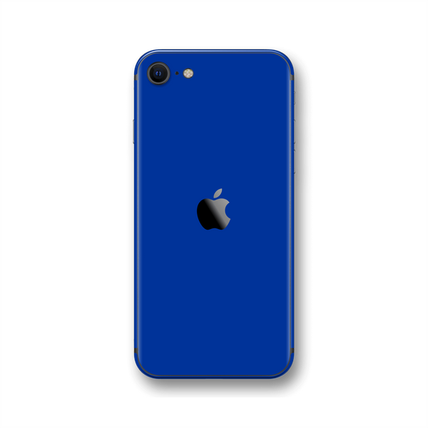 iPhone SE (2020) Royal Blue Gloss Finish Skin Wrap Sticker Decal Cover Protector by EasySkinz
