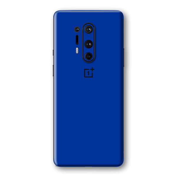 OnePlus 8 PRO Royal Blue Glossy Gloss Finish Skin Wrap Sticker Decal Cover Protector by EasySkinz